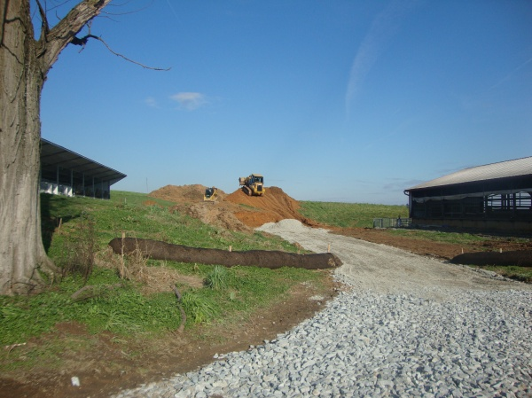 The very first dirt to be moved for the digester project. An exciting day!